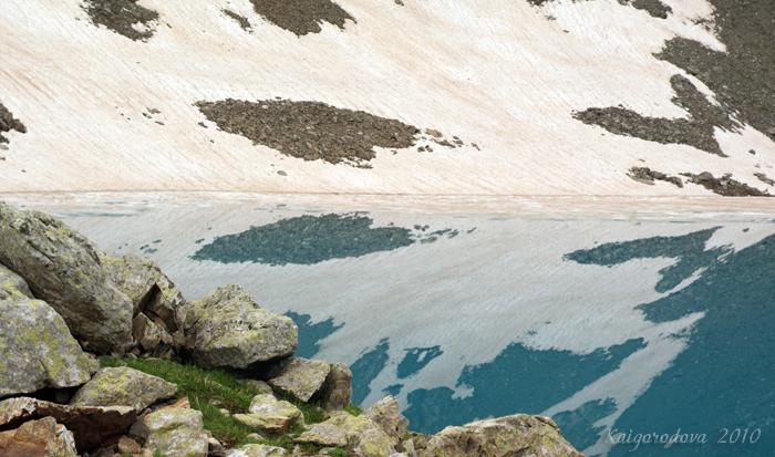 высокогорное озеро в Архызе