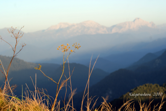 горы и расстояния