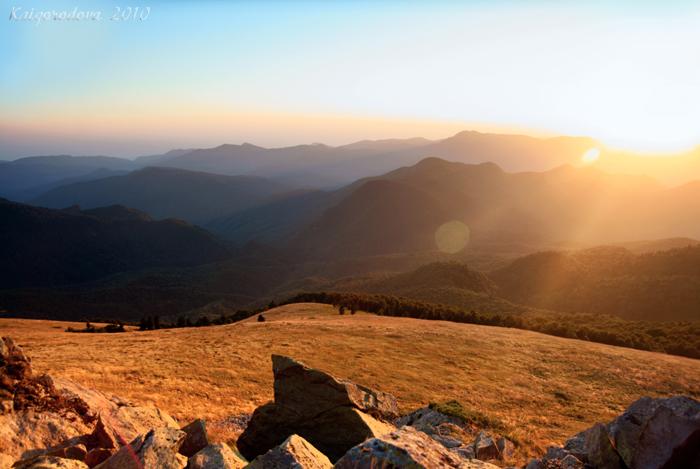 осенний закат гора лысая