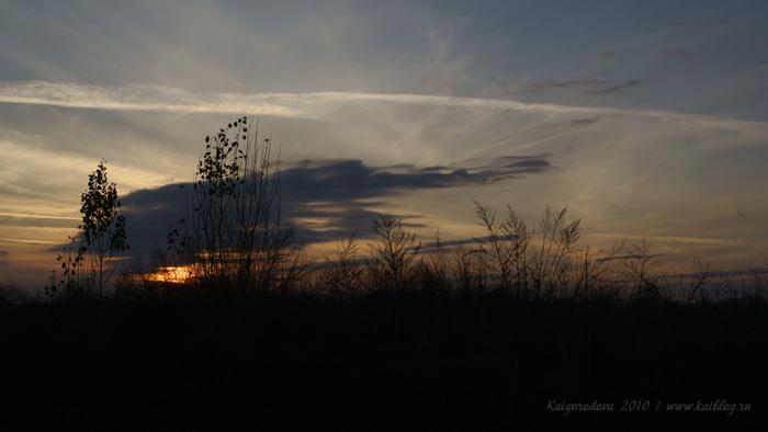 Ноябрьский вечер на Кубани