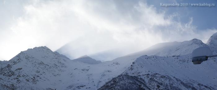 Накра в снегу