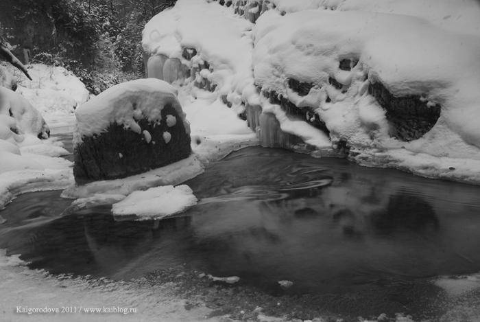 Гуамское ущелье в снегу