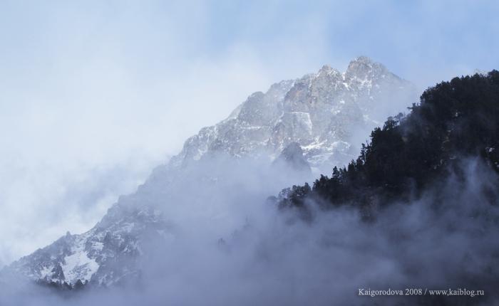 Весенний дождь в горах
