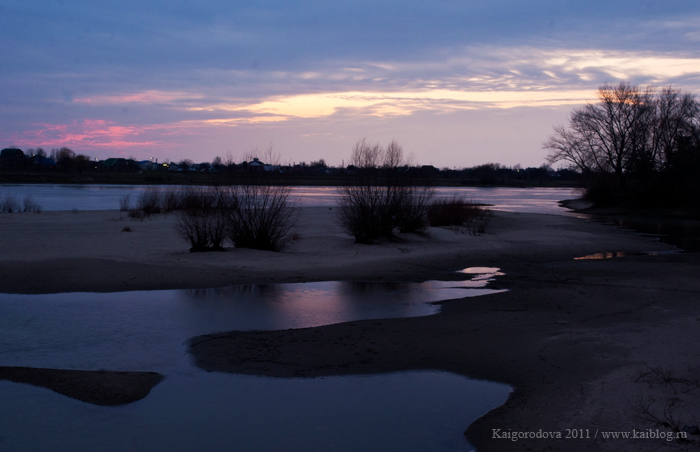 река Кубань. Закат