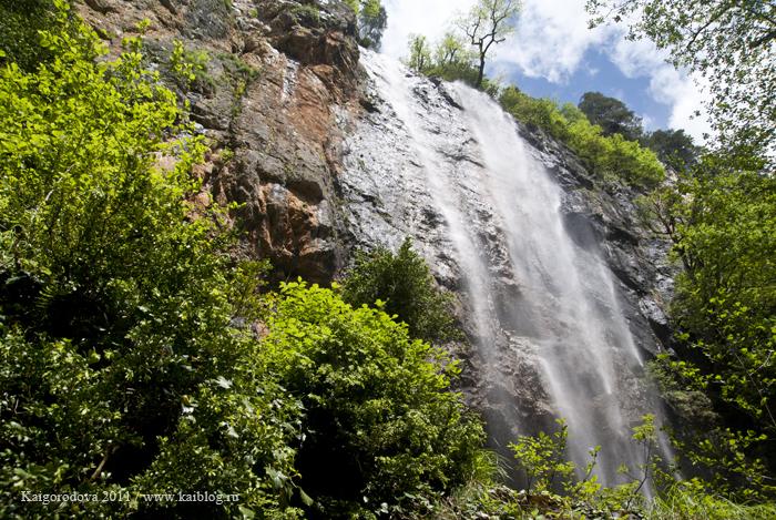Водопад на ручье Пальмовый