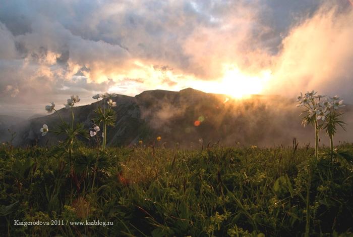 Закат на горе Матук