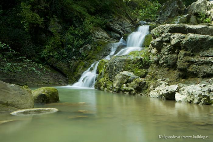 Водопад в Горячем Ключе