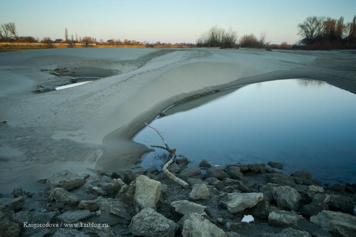 Рассвет на реке Кубань