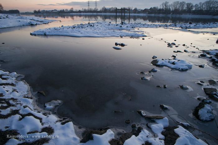 река Кубань у Краснодара