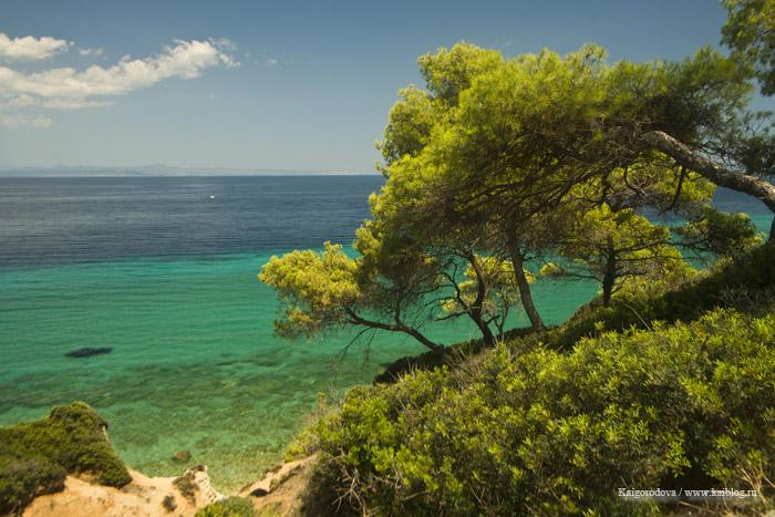 Дикий пляж на полуострове Халкидики-Кассандра